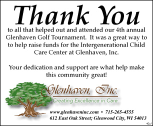 Thank You note for Glenhaven Golf Outing
