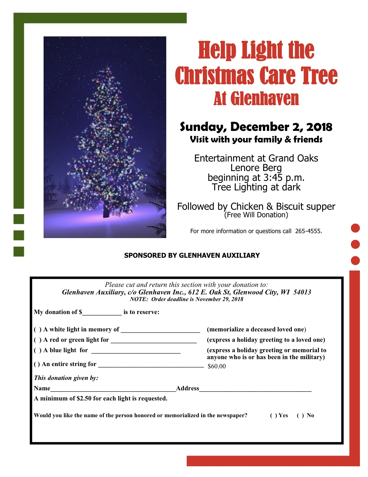 Lighting the Care Tree at Glenhaven image